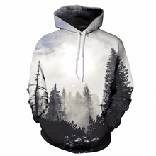 3D Print Forest Trees Hoodies Men Women Hip hop Spring Autumn Casual Hooded Sweatshirt Boy Tops Streetwear Coat Jacket Plus size