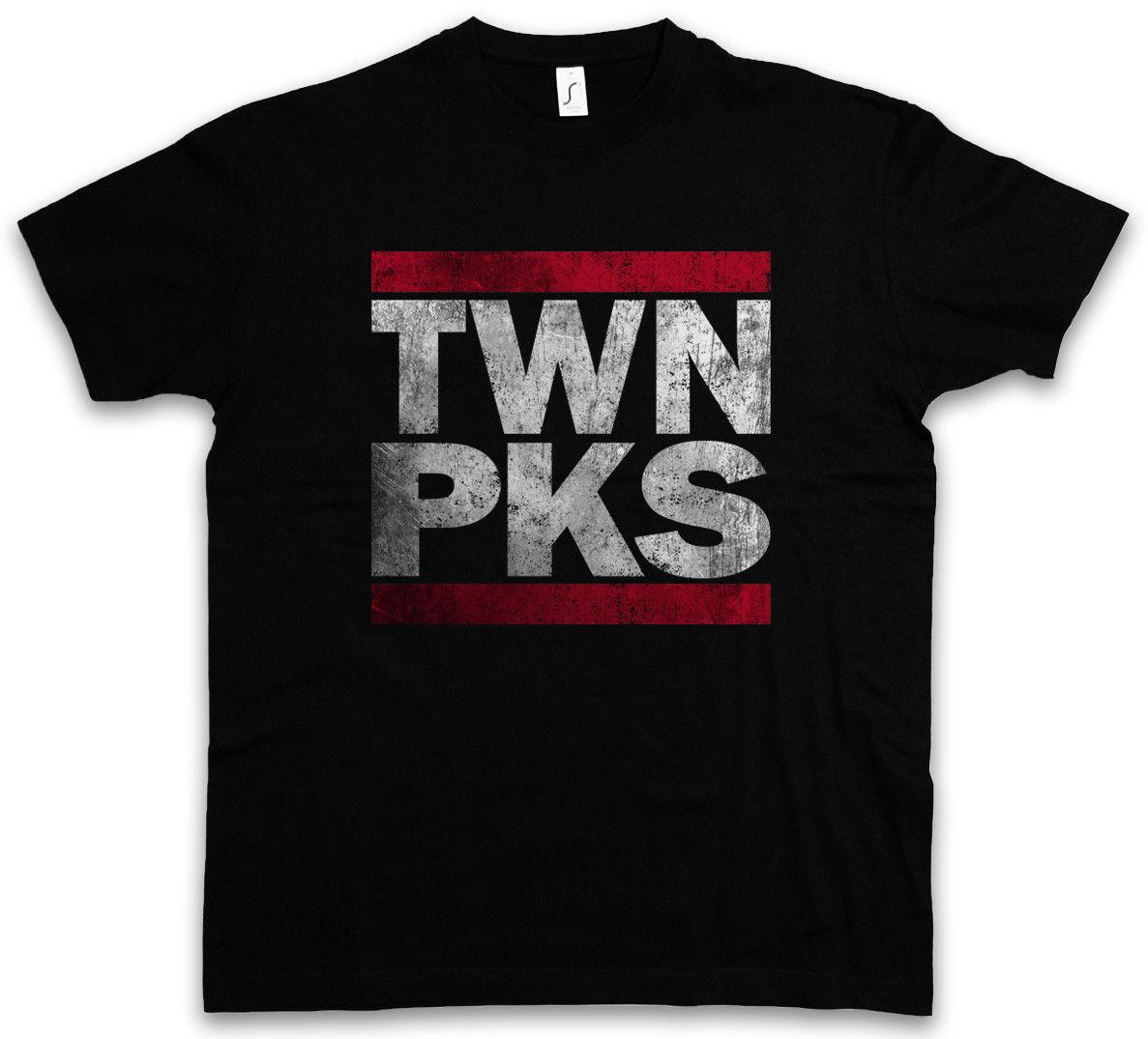 Summer Fashion O-Neck Short TWN PKS T-SHIRT Runer Twin Letters DMC Peaks Fun Shirt Dale Bartholomew