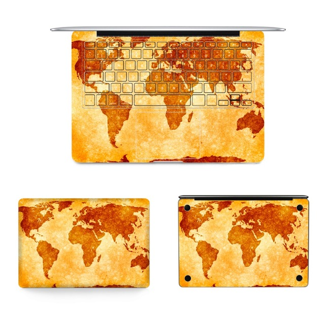 New laptop full vinyl decal top bottom keyboard sticker world map new laptop full vinyl decal top bottom keyboard sticker world map soldier skin for apple macbook gumiabroncs Gallery