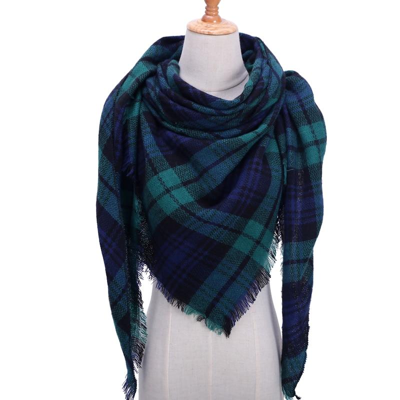 Бандана палантин платок на шею шарф зимний Дизайнер трикотажные весна-зима женщины шарф плед теплые кашемировые шарфы платки люксовый бренд шеи бандана пашмина леди обернуть - Цвет: b12