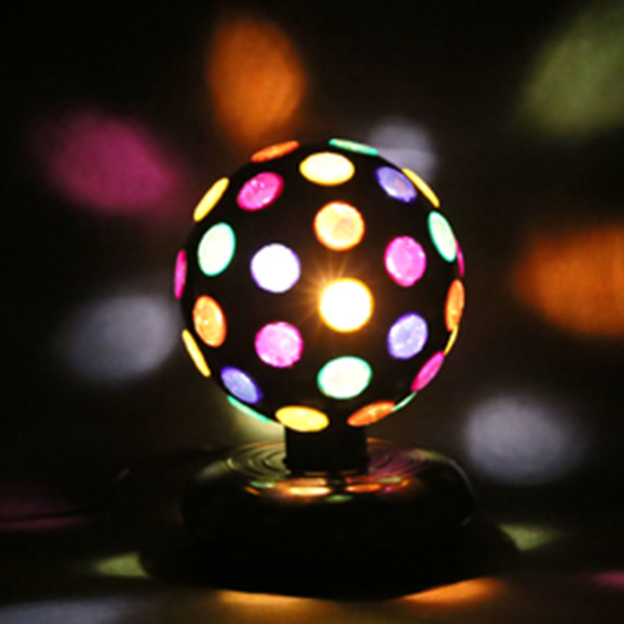 Thrisdar LED 5W6 Inch Disco Rotating Fans Your Laser Stage Lights Big Magic Ball Rotating Lights Decorative Lights Home Party