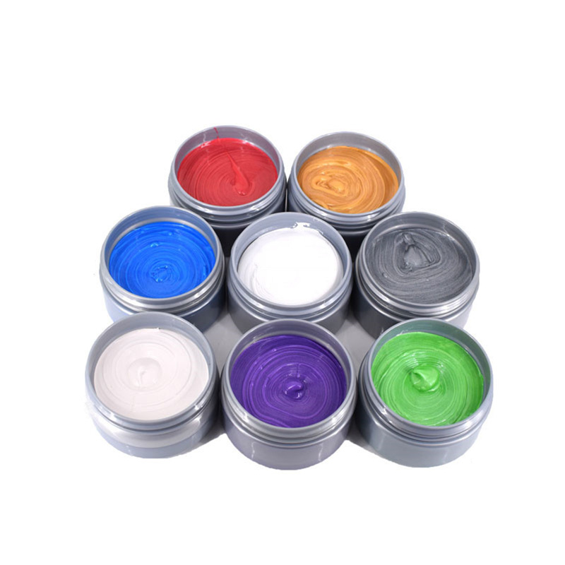 100g Natural Unisex Hair Dye Wax Cream Ash Purple Brown Color Temporary For Women Men Paint for