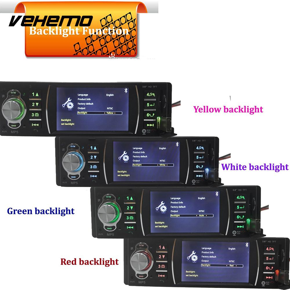 Vehemo Multimedia Player Car MP5 Video Player FM/USB/AUX Steering Wheel Controls 3.6