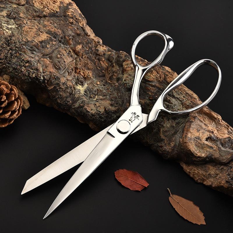 Профессиональные ножницы из нержавеющей стали 10 дюймов, кожаные ножницы для шитья, ножницы для вышивки, инструменты для шитья