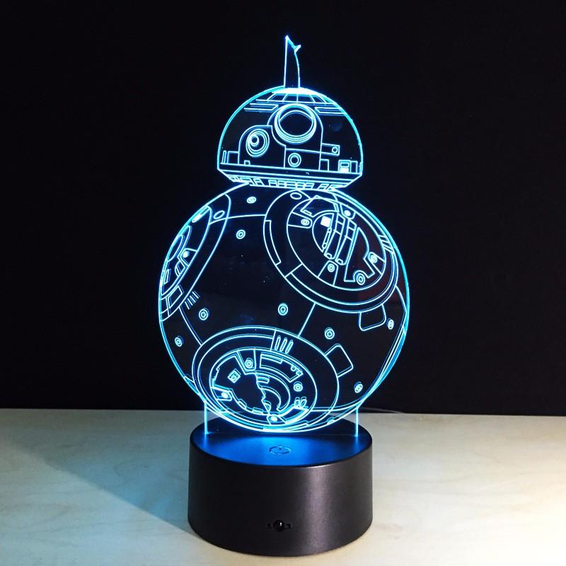 3D Night Light Robot