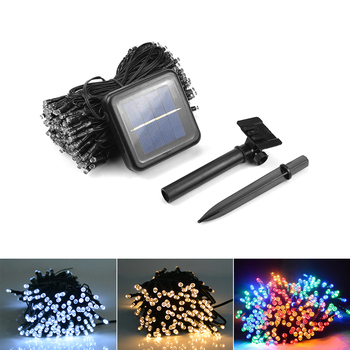 Lawn Garden Light Lamps Solar Power String Lights Outdoor Waterproof lampe solaire patio Wedding Party Christmas Decor String Lights