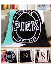 VS Secret Blanket Beach Towel Fruit Printed Round Pink Victoria Seaside Towel Beach Vacation Camping Mat