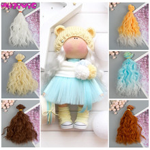 DIY Doll Wigs Hair High Temperature Synthetic Fiber 1pcs 15cm Extensions for Kurhn/BJD/SD/Blyth/American Dolls
