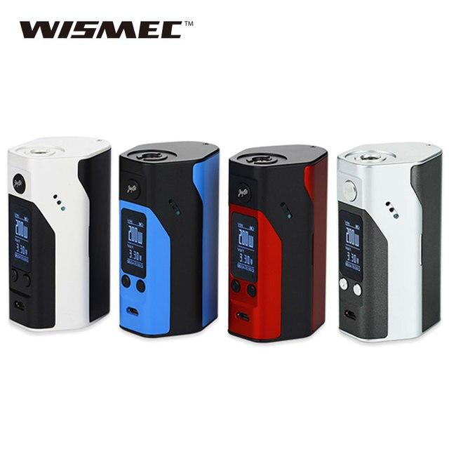 100% Оригинальные wismec reuleaux RX200S TC поле mod 200 Вт OLED Экран TC200W temp Управление mod w/o Батарея e-сигареты обновление прошивки