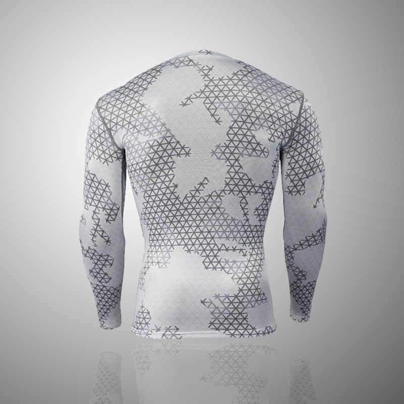 Термобелье комплект для защиты от сыпи, MMA компрессионная одежда, леггинсы для мужчин, костюм для бодибилдинга, футболка Камуфляжный спортивный костюм для мужчин