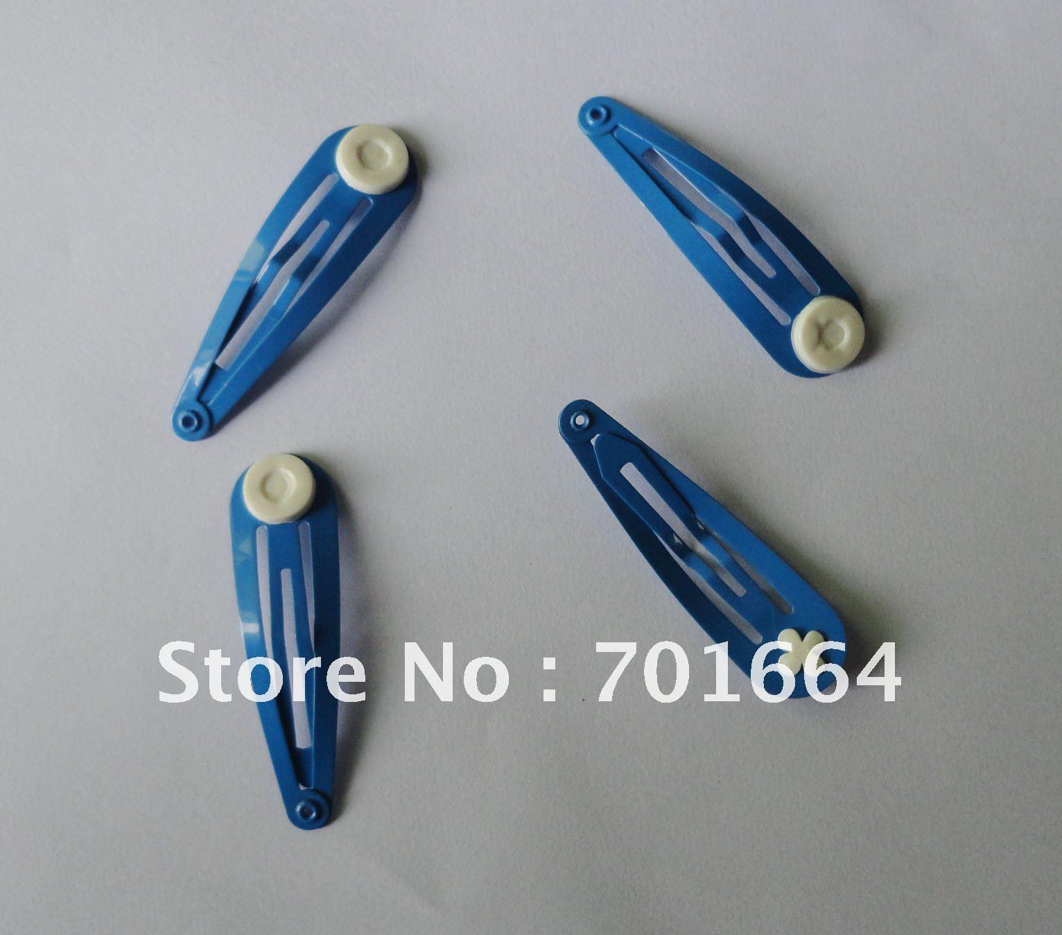 """50 шт. 5,0 см 2,"""" Aqua-blue обычный металл защелкивающиеся зажимы с 9 мм склеивания колодки на никель бесплатно и свинец бесплатно качество"""