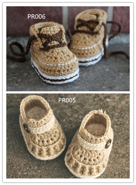 CroCHET Baby Boys Boots Crochet Bootie baby shoes-in First Walkers ...