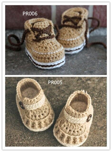 Ganchillo bebé Niños Botas ganchillo bootie zapatos de bebé en ...