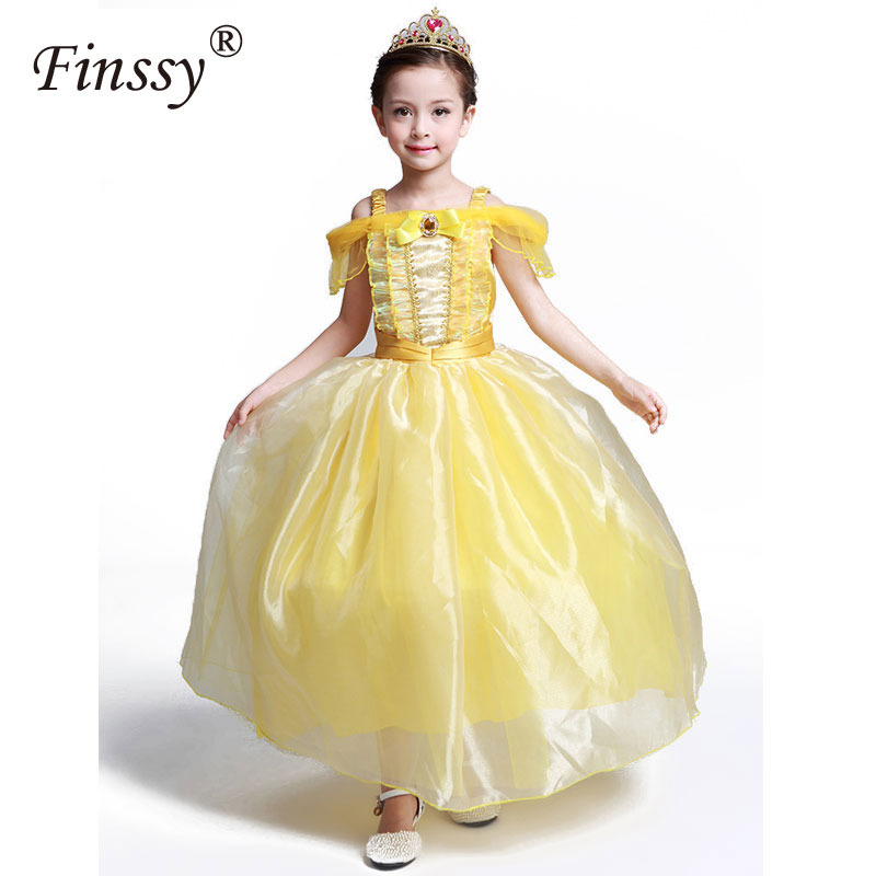 Kids Fair BELLA Girls Christmas Costumes Long Dresses Beauty And The Beast Cosplay Clothing Children Princess Belle Dresses