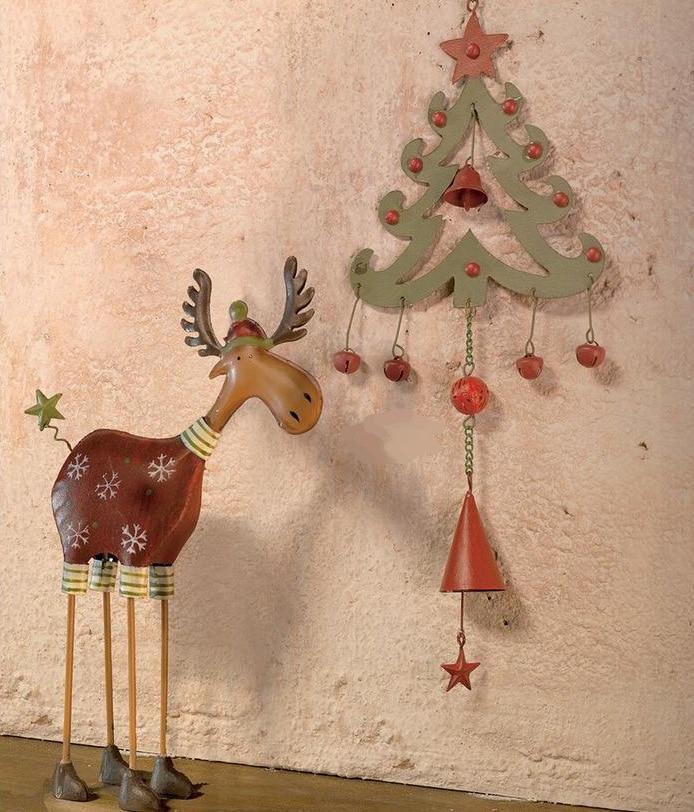 Gratis frakt, 2st / set, Jul Set Decoration Hängsmycke Julgran Elk - Heminredning - Foto 1