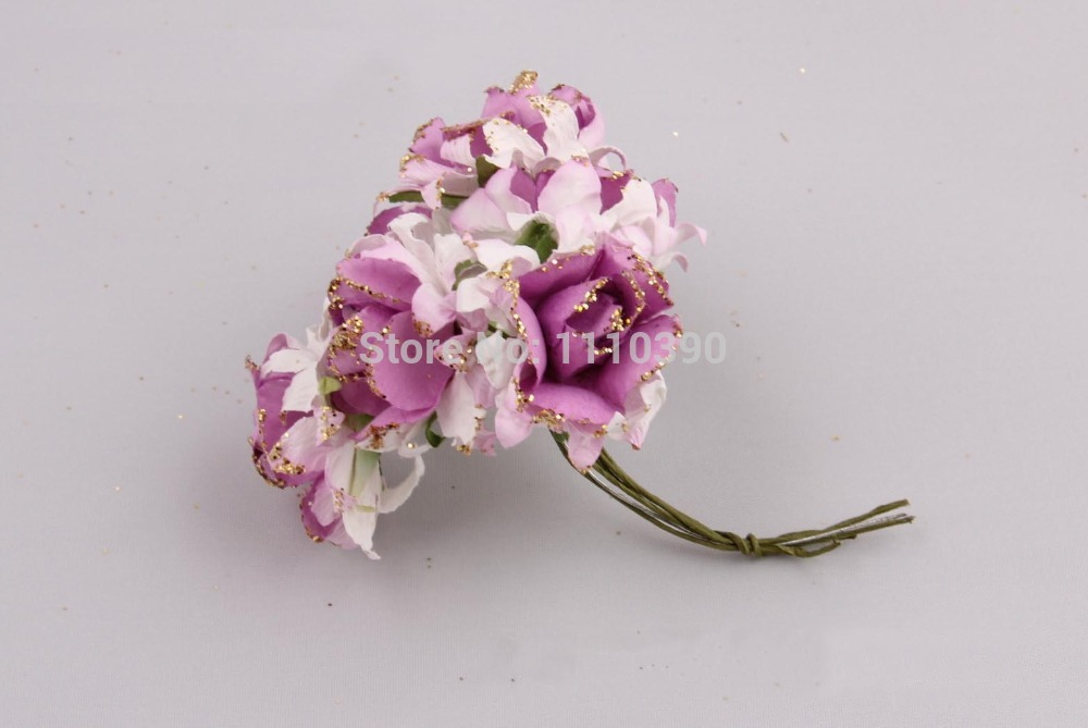3CM mulberry paper rose flowers,artificial wedding bouquets with ...
