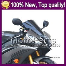 Dark Smoke Windshield For KAWASAKI NINJA ZZR400 93-07 ZZR 400 ZZR-400 2002 2003 2004 2005 2006 2007 Q03 BLK Windscreen Screen