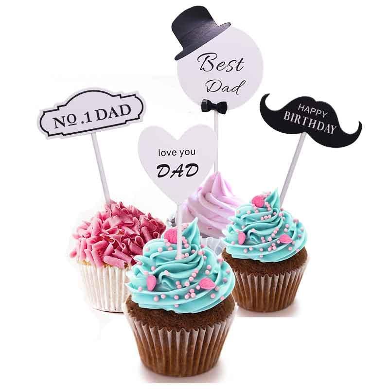 1 Set Paperboard Cake Topper Cupcake Cake Decorating ...