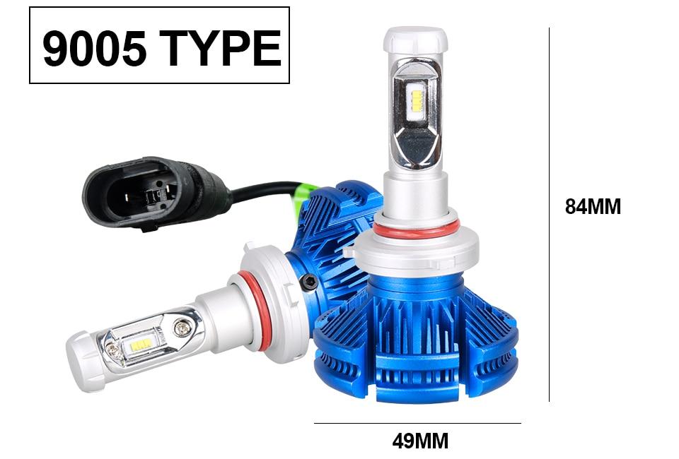 H4 Led CSP Chips H7 LED Headlights Auto-styling Led Car Bulb H1 H11 Fog Lamp Fanless (17)