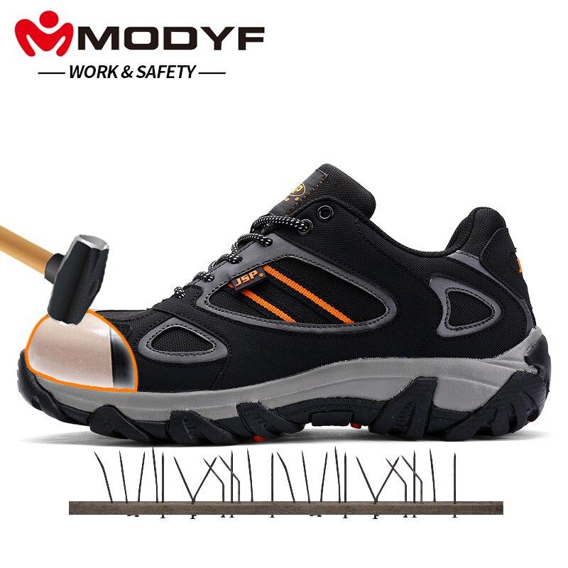 Homens Aço Tênis Black Modyf Biqueira Prova Respirável Livre Segurança Protecção Sapatos Punção Ao Do Trabalho Ar Calçado De À Casuais Botas vg44Ex