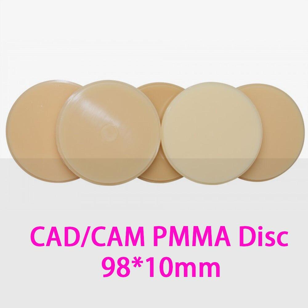 5pcs set 98mm 10mm PMMA Disc Block for CADCAM Milling System