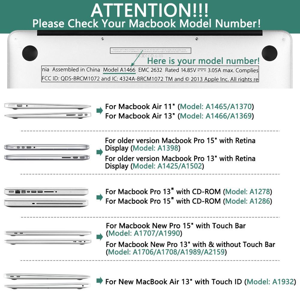 Crystal Case For Apple Macbook Air 13 3 11 Pro 13 12 15 Retina Laptop Print