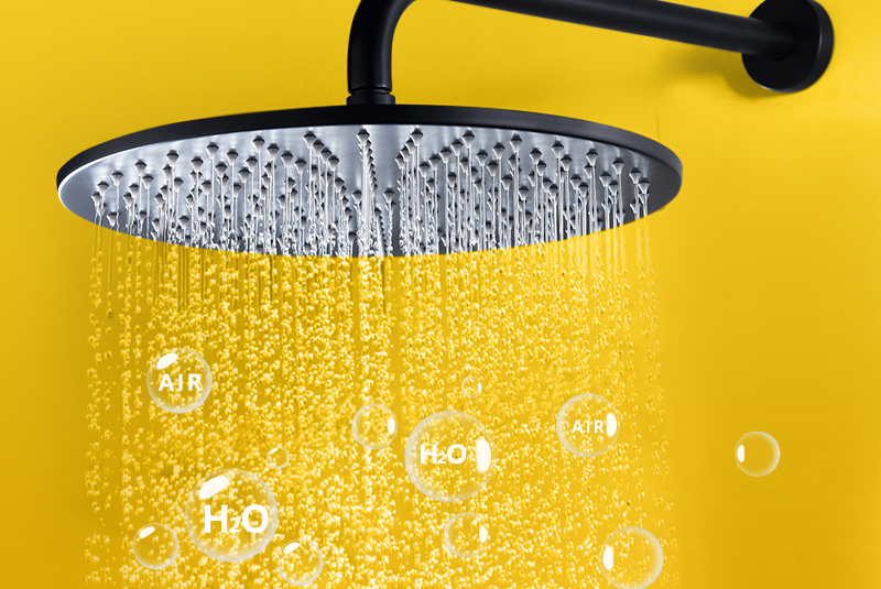Shower System Black Rainfall Shower Head Brass Body Hand Shower Bathroom Rain Mixer Thermostatic 108 Shower Set (12)