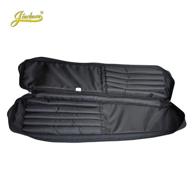 100cm Professional portable bamboo chinese dizi flute bag case design for concert cover backpack with adjustable shoulder strap