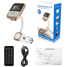 Bluetooth Handsfree Car Kit with FM Transmitter & 2.1A Charger Car Electronics Accessorie Car Bluetooth MP3 Player