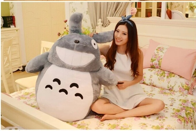 huge plush lovely Totoro toy big stuffed laughing expression totoro doll gift about 120cm 0329 huge lovely panda toy big plush panda with stripe clothes birthday gift about 90cm