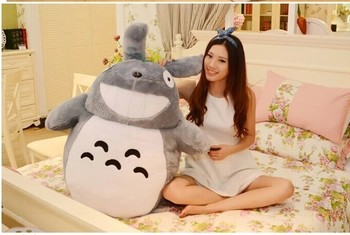 huge plush lovely Totoro toy big stuffed laughing expression totoro doll gift about 120cm 0329