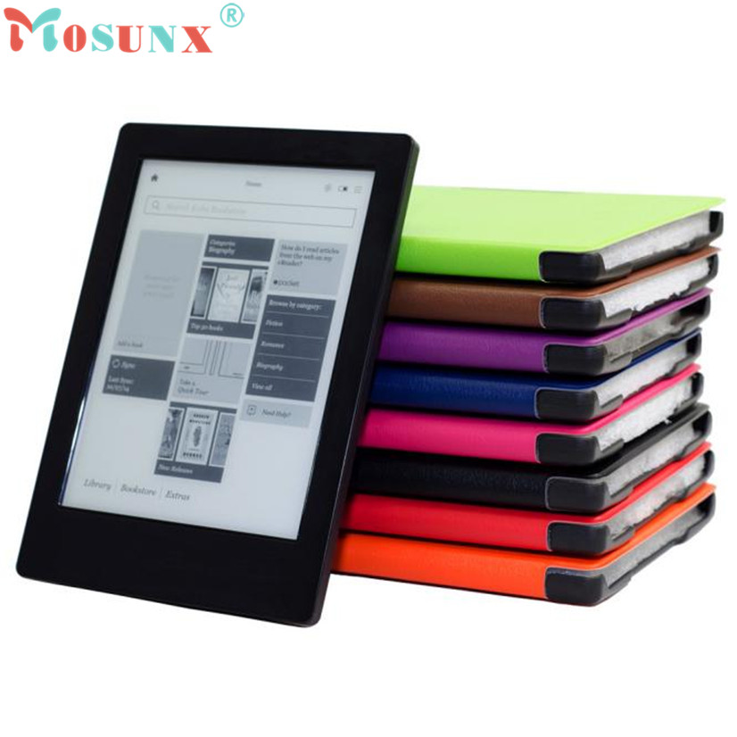 Factory price Hot Magnetic Auto Sleep Leather Cover Case For NEW KOBO AURA H2O eReader+HD Screen Protective Film+TOUCH PEN Jan6