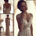 Vintage Wedding Dresses Beading Tassel Lace Bridal Gowns Robe De Mariee A-Line Simple Mild Backless New Arrival Hot Cheap Sexy