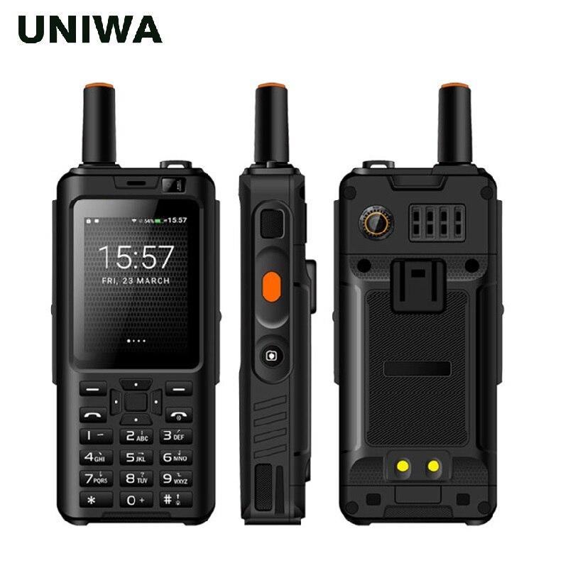 UNIWA Alpes F40 Zello Walkie Talkie teléfono móvil IP65 impermeable 2,4 Pantalla táctil LTE MTK6737M Quad Core 1GB + 8GB teléfono inteligente