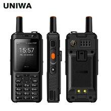 "Uniwa alps f40 zello 워키 토키 휴대 전화 ip65 방수 2.4 ""터치 스크린 lte mtk6737m 쿼드 코어 1 gb   8 gb 스마트 폰"