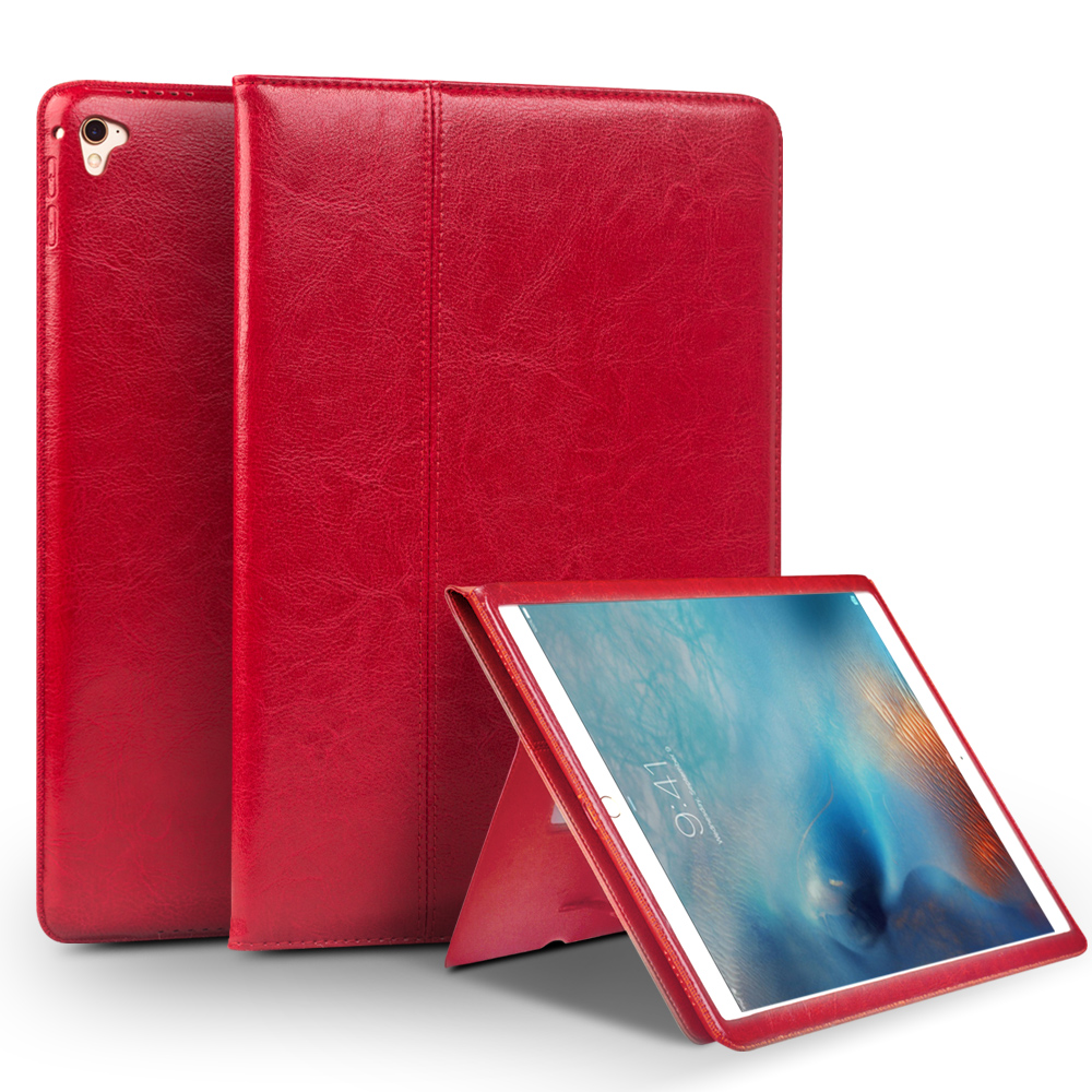 все цены на For iPad Pro 9.7 Genuine Real leather Case Ultra-slim Wallet Stand cases Cover Shell For Apple iPad Pro 9.7inch Protective Stand онлайн