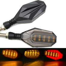 Universal Black Motorcycle Turn Signals Bicycle Light Super Motorbike Turnning Light for aprilia CAPONORD / ETV1000 RS250 RS125