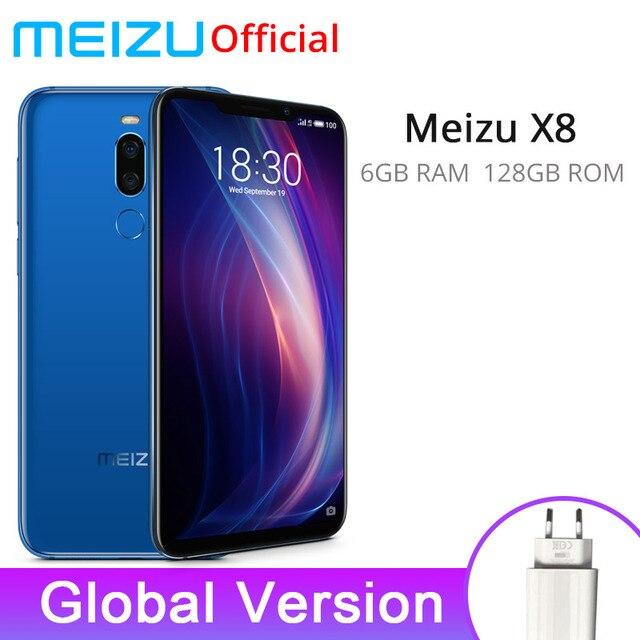 Official Global Version Meizu X8 6GB 128GB Mobile Phone Snapdragon 710 Octa Core 6.15'' Dual Rear Camera 3210mAh Battery