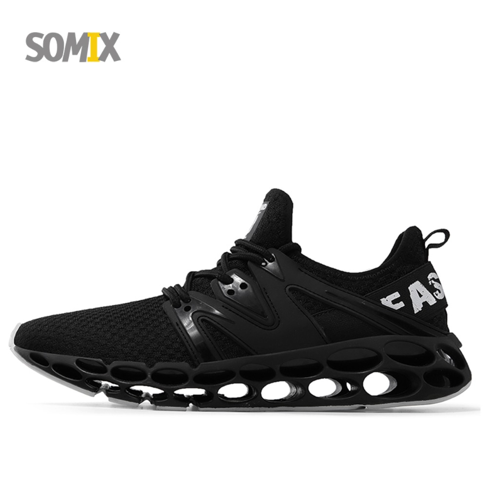 Somix 2018 Super Cool Running Shoes for Men TPU Damping Cushioning Outdoor Sport Walking Shoes Summer Breathable Men Sneakers summer style somix ultralight damping running shoes for men free run sneakers 2017 slip on breathable blade soles sport shoes