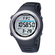 Men Watches Fashion Pasnew Men Sports Watches Men Digital Watches Waterproof Silicone Watch horloge mannen reloj hombre digital cheap Plastic 25cm 5Bar Buckle ROUND 48mm 15mm Acrylic Stop Watch Back Light Shock Resistant LED display Repeater Auto Date Chronograph