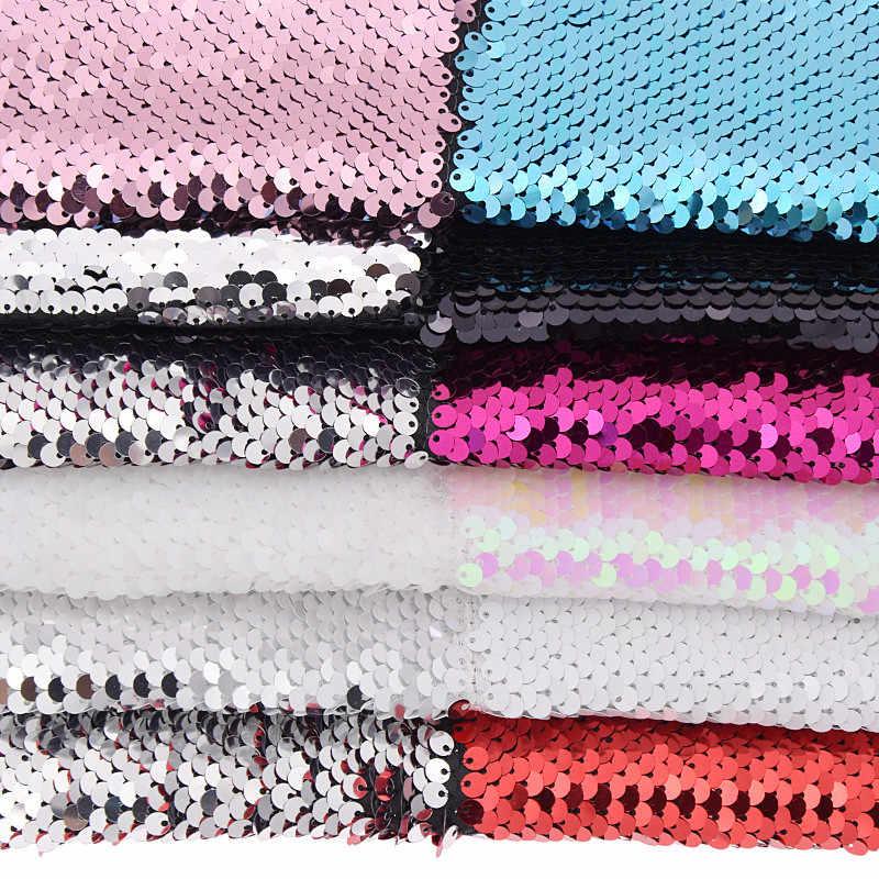 She Love Двусторонняя блестящая ткань для сумок, одежды, рукоделия, швейная ткань, материал, аксессуары для рукоделия