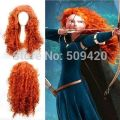 Nice5981>>>Cheap 55cm long Brave Merida orange Cosplay wave Anime Wig