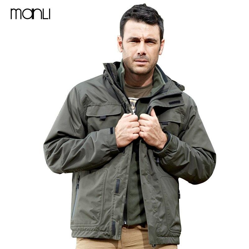 MANLI зимнее ветрозащитное пальто треккинг лыжный походные куртки тактическая ветровка Мужская Великобритания США Военная Полевая куртка ар