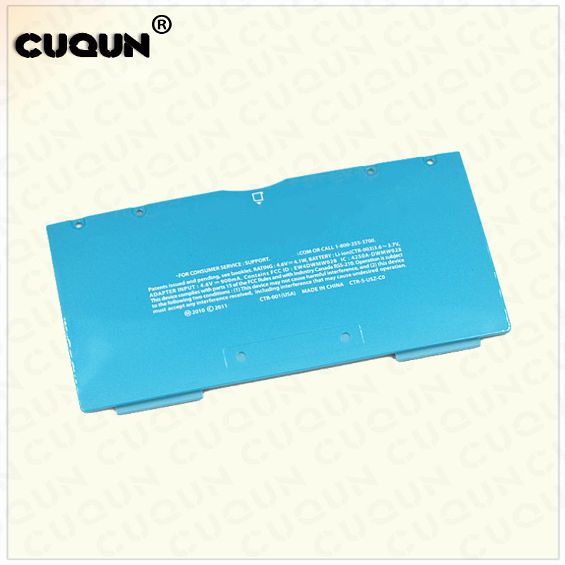 Original US Version Blue Color Battery Cover for Nintend 3DS Repair Host Back Cover Shell Case For 3DS Console