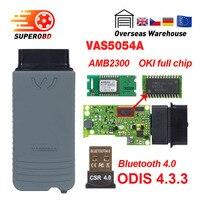 VAS 5054a ODIS v4.3.3 keygen vas5054a OKI full Chip OBD2 scanner auto code reader vas 5054 Bluetooth obd ii diagnostic tool