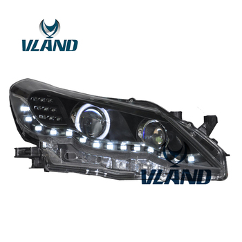 VLAND Factory For Car Head Lamp For Reiz LED Headlight 2011 2012 Mark 5 Head Light Angel Eyes H7 Xenon Lamp And Plug And Play