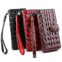 OCWAVE Wallet Leather Case For Samsung Galaxy A5 2017 A7 2017 Crocodile Pattern Design Cards Slot