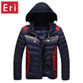 Winter Men Jacket Patchwork 2017 Autumn Jackets Coats With Hooded Zipper Thick Clothes Male Casual Zipper Cotton Overcoats X309