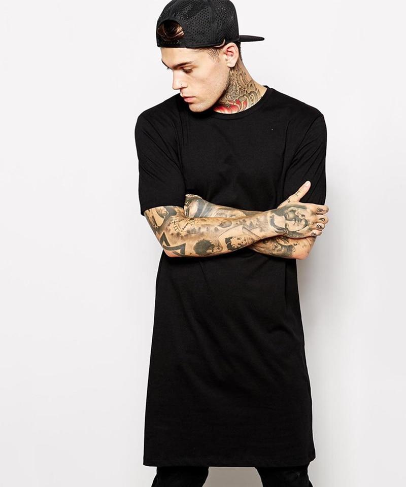 Skateboard Tshirt O Neck Longline T Shirts Hip Hop Short ...