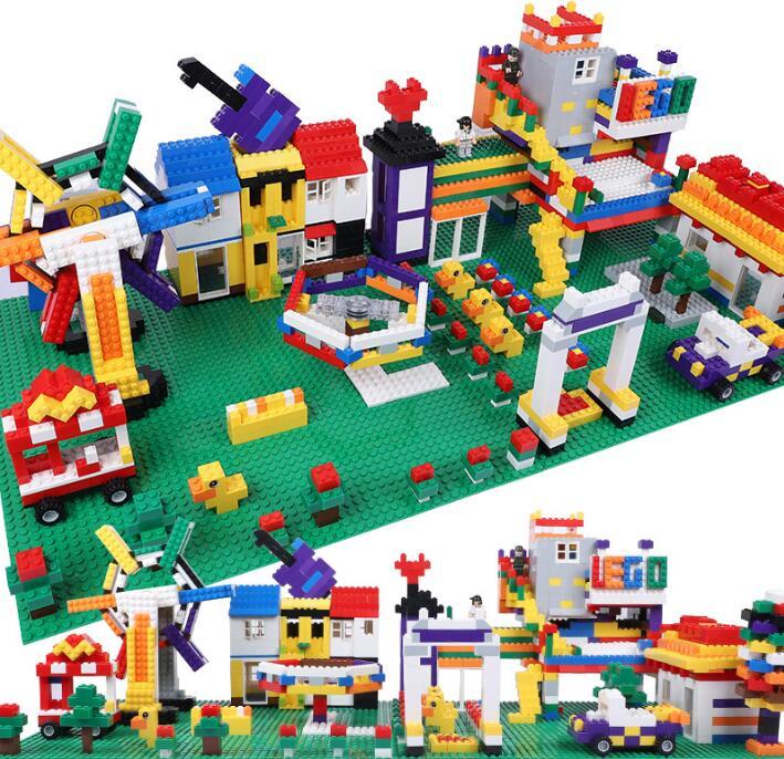 1000 pcs Bulk Bricks Blocks Compatible Sets DIY Building Bricks Educational Toys Muliticolors Bricks Accessories 80pcs 2x2 basic high bricks 2 2 4 holes diy building blocks toys